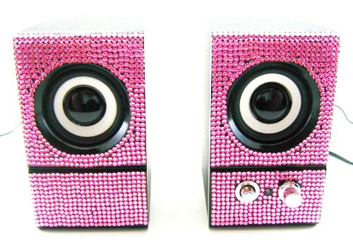 speakers pink. pink crystal rhinestone computer speakers for sale - review \u0026 buy at cheap price b