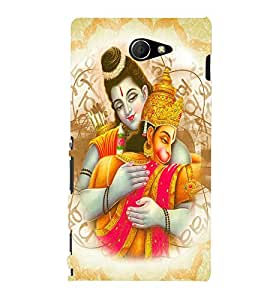 PRINTVISA Religious Lord Ram Case Cover for Sony Xperia M2