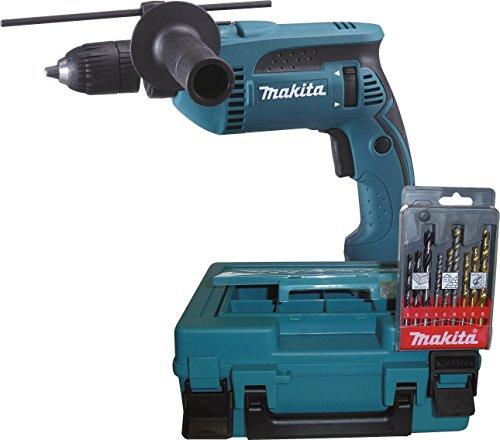 Makita HP1641K1X Schlagbohrmaschine im Koffer inkl. Bohrerkassette