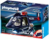 Toy - PLAYMOBIL 5178 - Polizeihubschrauber mit LED-Suchscheinwerfer
