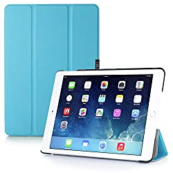 iPad Air 2 Case, i-Blason Apple iPad Air 2 Case [2nd Generation 2014 Release] i-Folio Slim Hard Shell Stand Case Cover [Life Time Warranty] for iPad Air 2 (iPad Air 2, Blue)