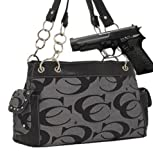 Gray Fashion Signature Conceal and Carry Purse