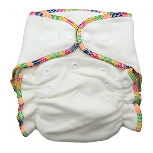 Heavy Wetter Bamboo / Organic Cotton One Size Fitted Diaper (Fits 7-30lbs)