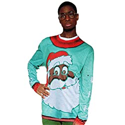 Black Santa Longsleeve Christmas T-Shirt