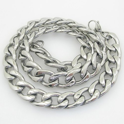 Mens 316L Stainless steel franco box ball wheat curb popcorn rope fancy chain curb link chain curb link chain