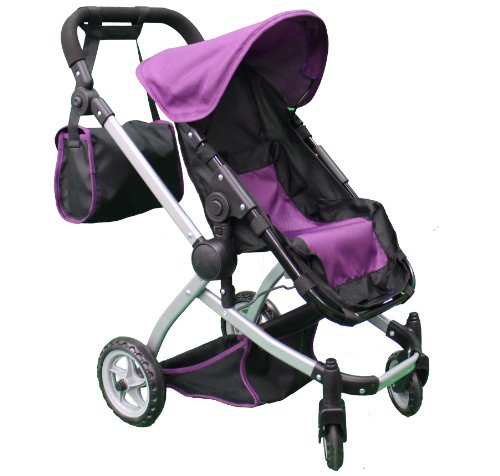 Mommy & Me Deluxe Babyboo Doll Stroller Color Purple & Black With Free Carriage Bag Multi Function View All Photos - 9651C-2 front-476294