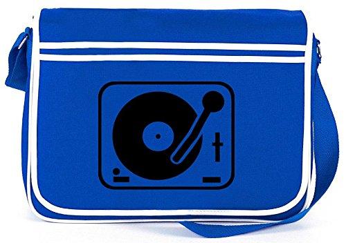 Shirtstreet24-TURNTABLEPLATTENSPIELER-DJ-Retro-Messenger-Bag-Kuriertasche-Umhngetasche