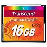 Transcend 16 GB 133x CompactFlash Memory Card TS16GCF133