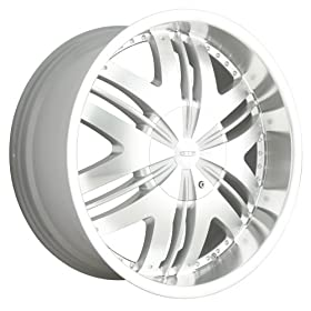 DIP Phoenix (Series D36) Hyper Silver with Machined Face - 22 x 9.5 Inch Wheel