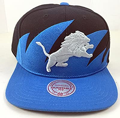 Detroit Lions Mitchell And Ness Custom Sharktooth Snapback