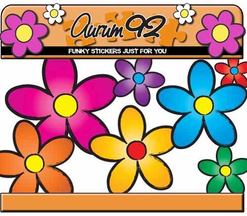 multicolor-funky-daisy-coche-pegatinas-por-aurum92