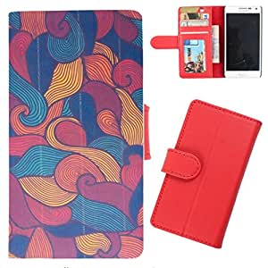 DooDa - For Karbonn A4+ PU Leather Designer Fashionable Fancy Wallet Flip Case Cover Pouch With Card, ID & Cash Slots And Smooth Inner Velvet With Strong Magnetic Lock