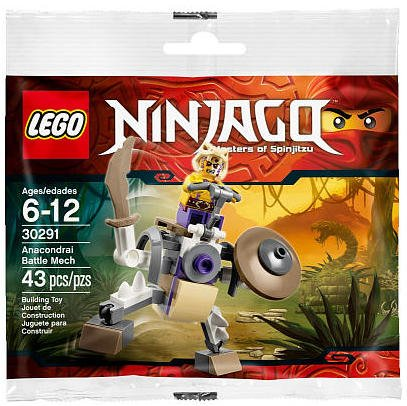 LEGO, Ninjago, Anacondrai Battle Mech (30291) Bagged