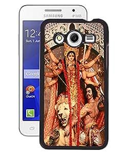 Fuson PVC-2D Metallic Printed Godess Designer Back Case Cover for Samsung Galaxy Core II SM-G355H - RD507