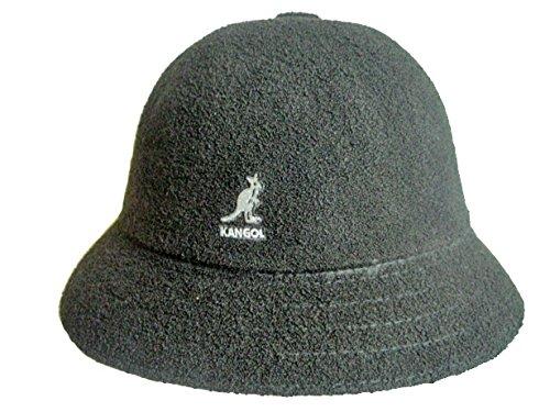 (カンゴール) KANGOL ウィンター バミューダ カジュアル メンズ レディース ベル ハット 帽子 WINTER BERMUDA CASUAL (XL(約61cm), ブラック×ホワイトロゴ)