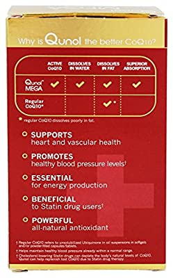 Qunol - Mega CoQ10 Ubiquinol 100 mg.