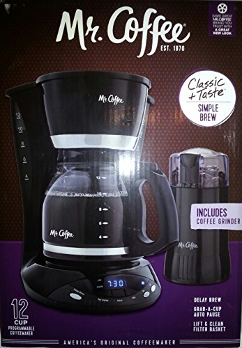 Mr Coffee Programmable 12 cup Coffeemaker and Grinder Combo (Mr Coffee Grinder Cup compare prices)