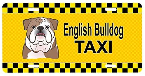 Carolines Treasures BB1343LP English Bulldog Taxi License Plate (Dog Taxi License Plate compare prices)