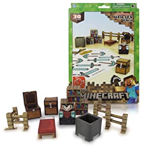 Overworld Utility Pack Minecraft Papercraft Kit Series from Jazwares