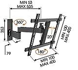 Vogels-Wall-2245-TV-Wandhalterung-fr-81-140-cm-32-55-Zoll-Fernseher-drehbar-und-neigbar-max-20-kg-Vesa-max-400-x-400-schwarz