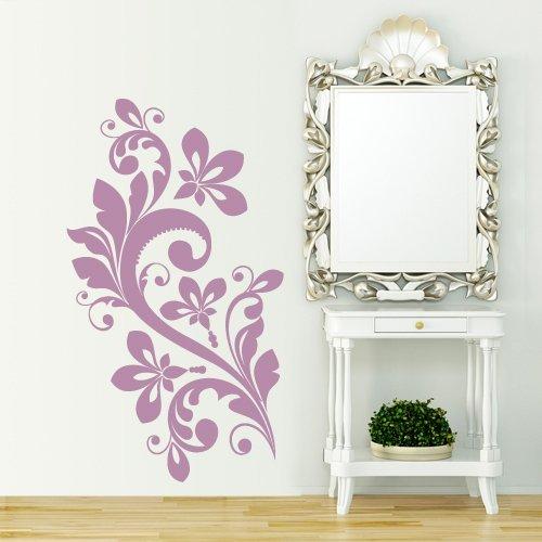 Murales Per Interni Casa.Interni Casa Adesivo Murale Tatuaggio Floreale Misure 67x120 Cm