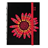 Letts Academic Weekly Planner, July 2014 to August 2015, Flower, 6.5 x 4.75 Inches, 1 Planner (CTA3W02)