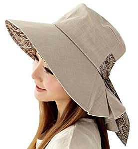 Dandelion Dreams Foldable Sun Hat ,Beach Cap,UVF50+, Gray