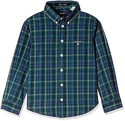 Gant Boys' Shirt (GBSEF0007_Bottle Green_XS)