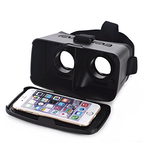 """Andoer CST-06 Google Cardboard Version 3D VR Glasses Virtual Reality DIY 3D VR Video Movie Game Glasses Head Mount with Headband for iPhone Samsung / All 4.0 ~ 6.0"""" Smart Phones"""