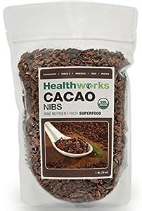 Healthworks Certified Organic Raw Cacao Nibs - 16oz/1 Pound