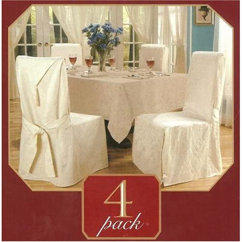 Luxury woven jacquard 4 pack dining room for 4 dining room chair covers