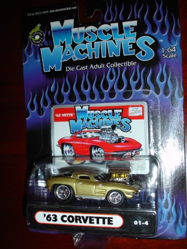 Muscle Machines 63 Corvette Metallic Gold - 1