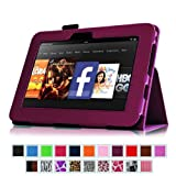 "Fintie Kindle Fire HD 7"" (2012 Old Model) Slim Fit Leather Case with Auto Sleep/Wake (will only fit Amazon Kindle Fire HD 7"", Previous Generation) - Purple"