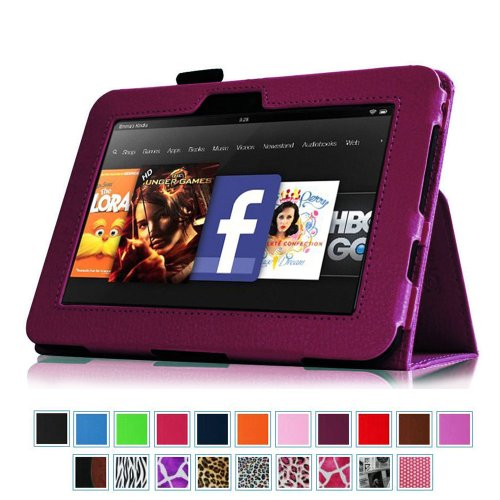 Buy Bargain Fintie Kindle Fire HD 7 (2012 Old Model) Slim Fit Leather Case with Auto Sleep/Wake (wi...
