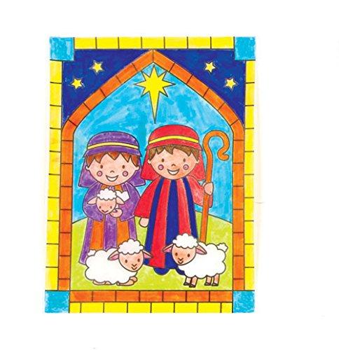 Decorazioni di natale da finestra per bambini da colorare - Finestra da colorare ...