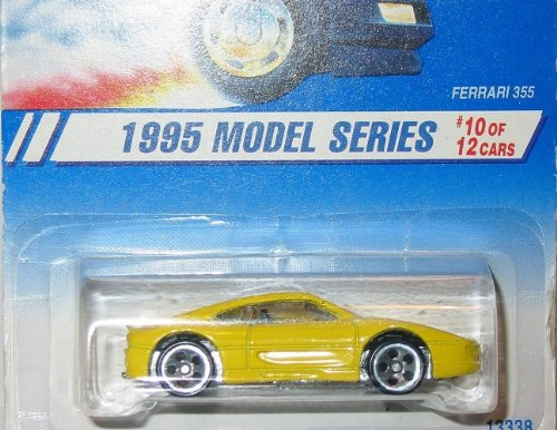 1995 -#10 Ferrari 355 Yellow #350 1:64 Scale Collectible Die Cast Car - 1