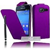 Etui Housse Luxe Violet pour Samsung Galaxy Trend Lite S7390 + STYLET et 3 FILMS OFFERTS !!