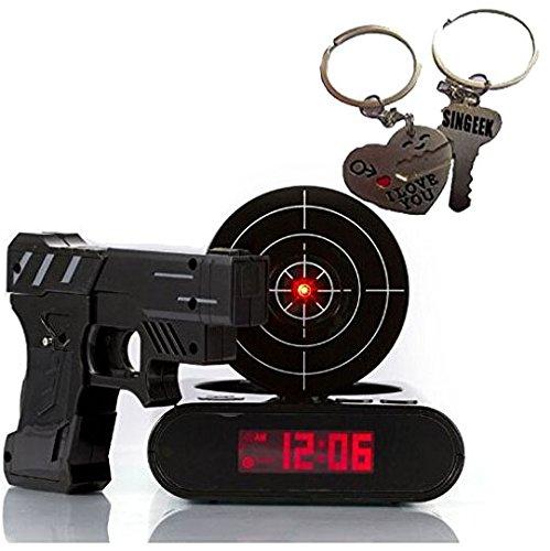 Gun Alarm Clock Target Wake Up Shooting Game Toy Novelty: Top 5 Best Gun Alarm Clock For Sale 2016