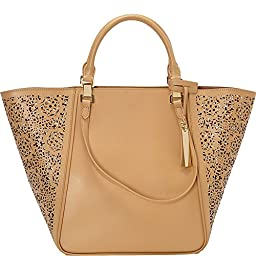 Vince Camuto Tylee Tote, Oak Maizy Perf, One Size