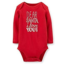 Carters Baby Girls I Love You Santa Bodysuit (Newborn)