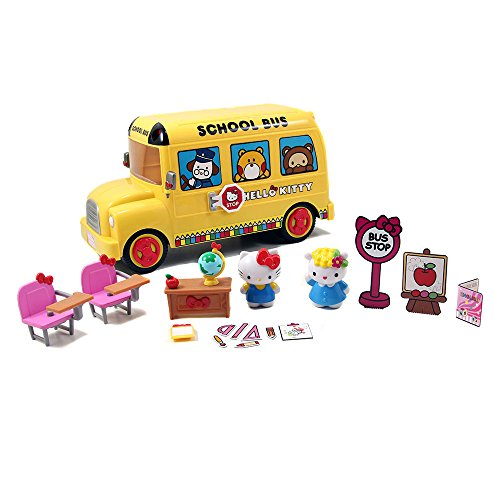 Hello-Kitty-School-Bus-Playset