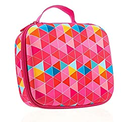 ZIPIT Colorz Lunch Box, Pink Triangles