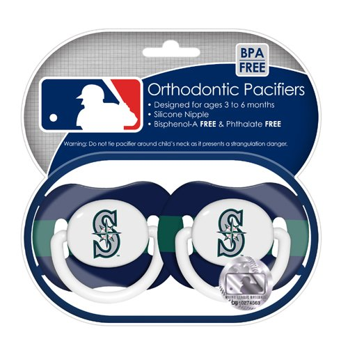 MLB Seattle Mariners Pacifiers, 2-Pack at Amazon.com
