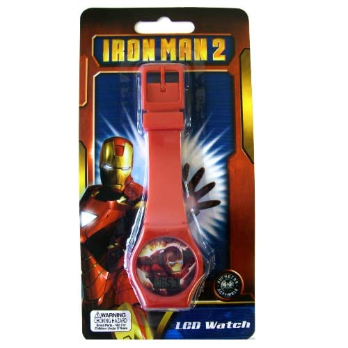Amazon.com: Iron Man 2 Kids Watch - Marvel Iron Man 2 LCD Watch (Red)