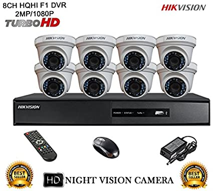 Hikvision-DS-7208HQHI-E1-8CH-Dvr,-8(DS-2CE56DOT-IRP)-Dome-Camera-(With-Mouse,-Remote)