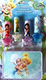 Disney Fairies Tinker Bell 4 Glitter Nail Polish Kit Set Plus Bonus Carrying Case