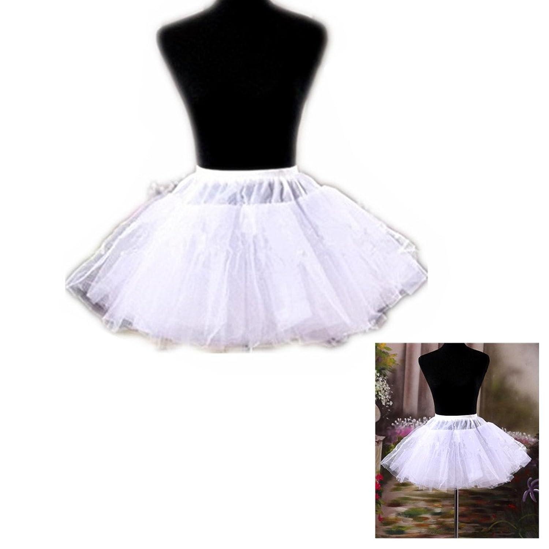 SwirlColor Weiße kurze Mehrschichten Krinoline Petticoat / Slips / Unterrock für Mädchen-Frauen günstig kaufen