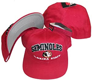 Florida State Seminoles Vintage Deadstock Red Plastic Adjustable Snapback Hat Cap by Super Sports by Super Sports