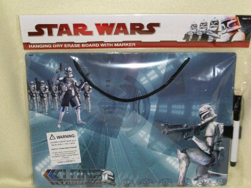 Star Wars Hanging Dry Erase Board with Marker * Clone Trooper*