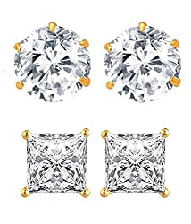 Youbella Gold-Plated Stud Earrings For Women/Girls(Combo Of 2)